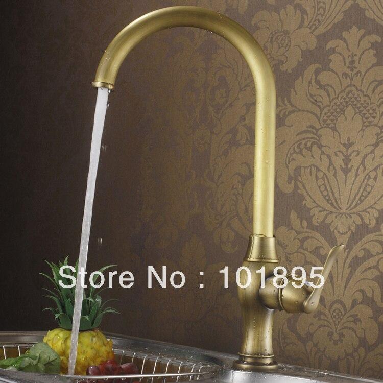 L16657-Роскошные бортике латунь бронза Цвет смеситель для кухни