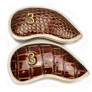 Image 5 - Kluby golfowe żelaza headcover skóra krokodyla PU headcover iorns chronić headcover 10 sztuk/partia darmowa wysyłka