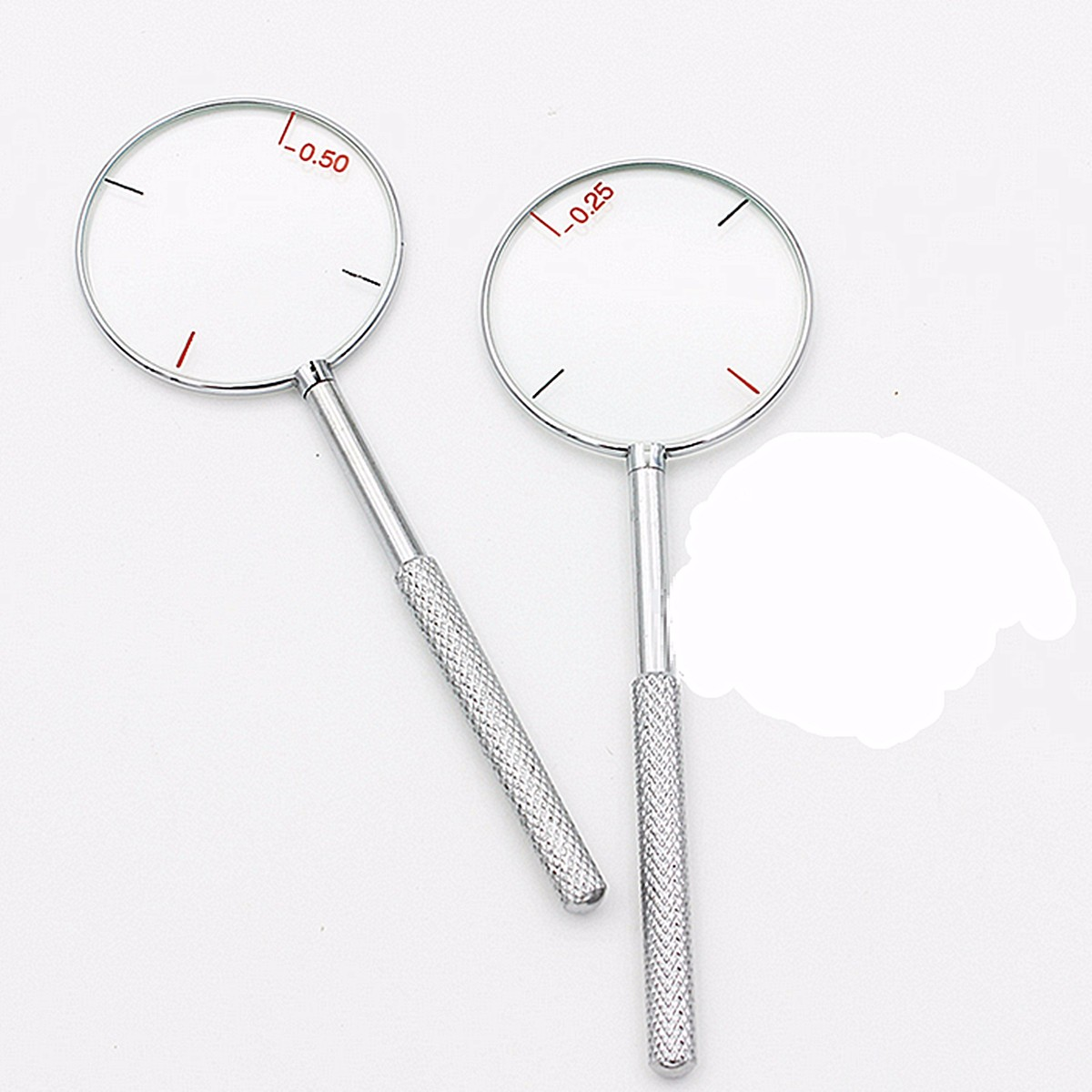 1Pcs Round Optical Cross Cylinder Lens Tool Optical Instruments Diopters 0.25 / 0.50 Free Shipping