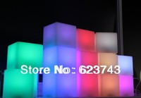 Free Shipping 10 10 10CM Colorful LED Cube LED Bar Desk Lamp Rechargeable LED Glowing Lighted