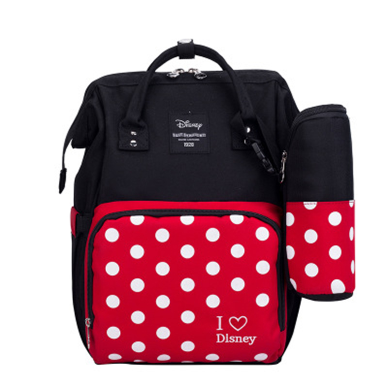 Disney usb diaper bag backpack lager capacity nappy bag for baby mickey minnie mummy bag travel maternity bag