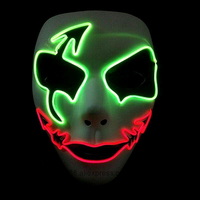 2016 New Design Scary Costumes Mask Halloween Party Gifts Flashing Mask Adult Party DIY EL Wire