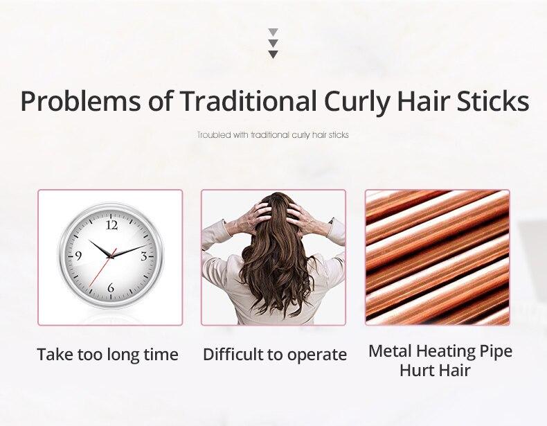 tubo de aquecimento cerâmico nutre o cabelo