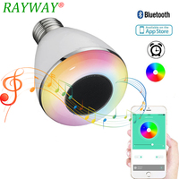 E27 RGB Dimmable Wireless Bluetooth Speaker Bulb Music Playing LED Light Dimmable 9W Mini Smart Speaker Bulb Music Light