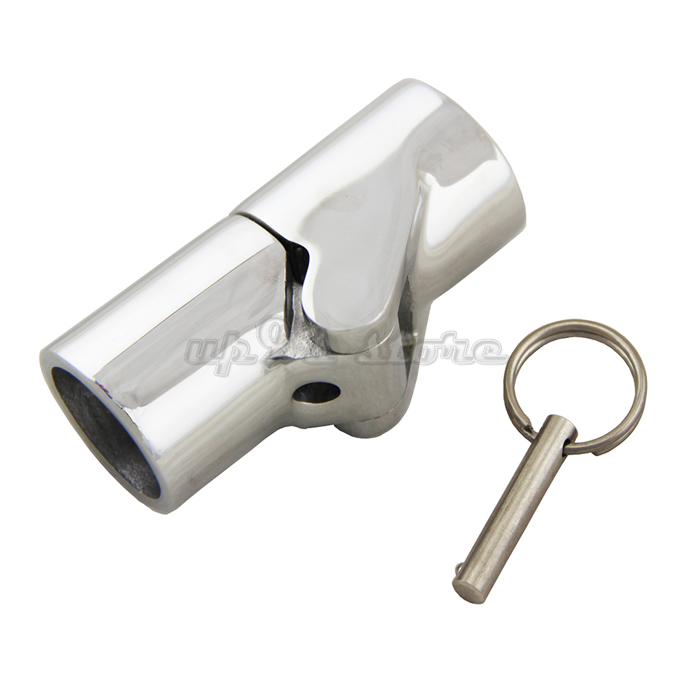 "4pcs Marine Stainless Steel Boat Yacht Handrail Fitting 3 Way Tee 7//8/"" Tube"