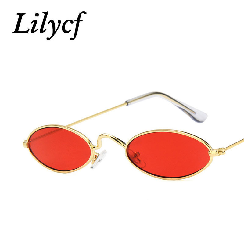 Metal Small Frame Sunglasses Retro Oval Frame Glasses Fashion Wild Marine Piece Women's Brand Designer High Quality Sunglasses