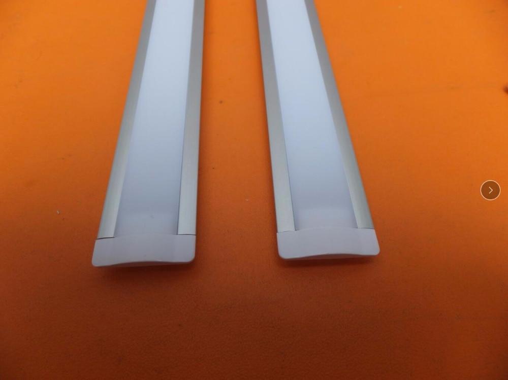 YANGMIN Անվճար առաքում Բարձրորակ հանրաճանաչ դիզայնի ալյումինե պրոֆիլ `կաթնային և պարզ ծածկով լամպերով շերտերով 26 հատ / լոտ 2.5 մ / հատ