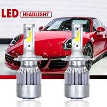 مصابيح كهربائية للسيارات C6 Lampada Led H4 H1 H3 H11 880 9005 HB3 9006 HB4 H13 9004 9007 H7 LED 9003 HB2 مصباح أمامي للسيارة التصميم مصابيح