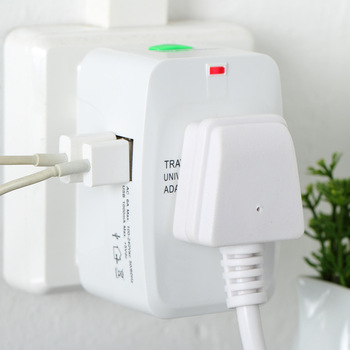 All in One Universal International Adapter 2 USB Port Plug 1