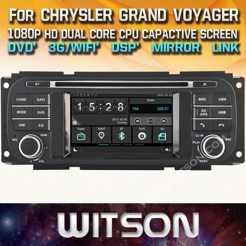 witson car dvd for chrysler grand voyager jeep grand. Black Bedroom Furniture Sets. Home Design Ideas