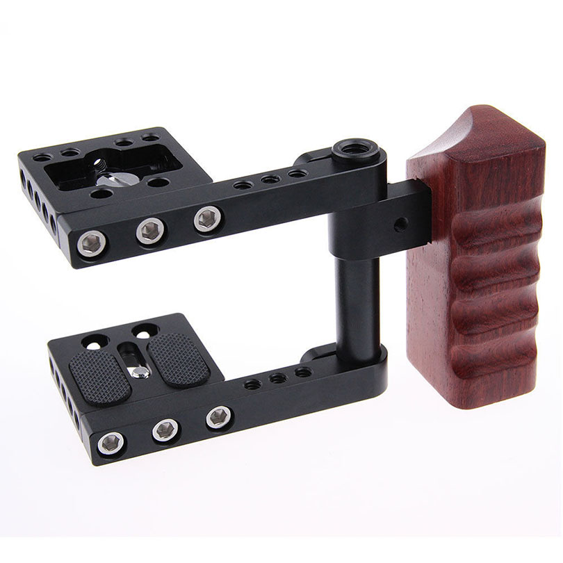 DSLR Camera Cage Photography Accessories w/15mm Rod Clamp Rail Grips For BMPCC BlackMagic Pocket Cinema Rig C1270