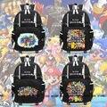 Anime Super Smash Bros Männer Rucksack Knapsack Packsack Reise Otaku Schwarz Taschen-in Rucksäcke aus Gepäck & Taschen bei