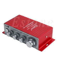 MA-180 DC12V 2-CH Mini Hi-Fi AMP Stereo USB Car Boat Audio Auto Power Amplifier #4XFC# Drop Ship