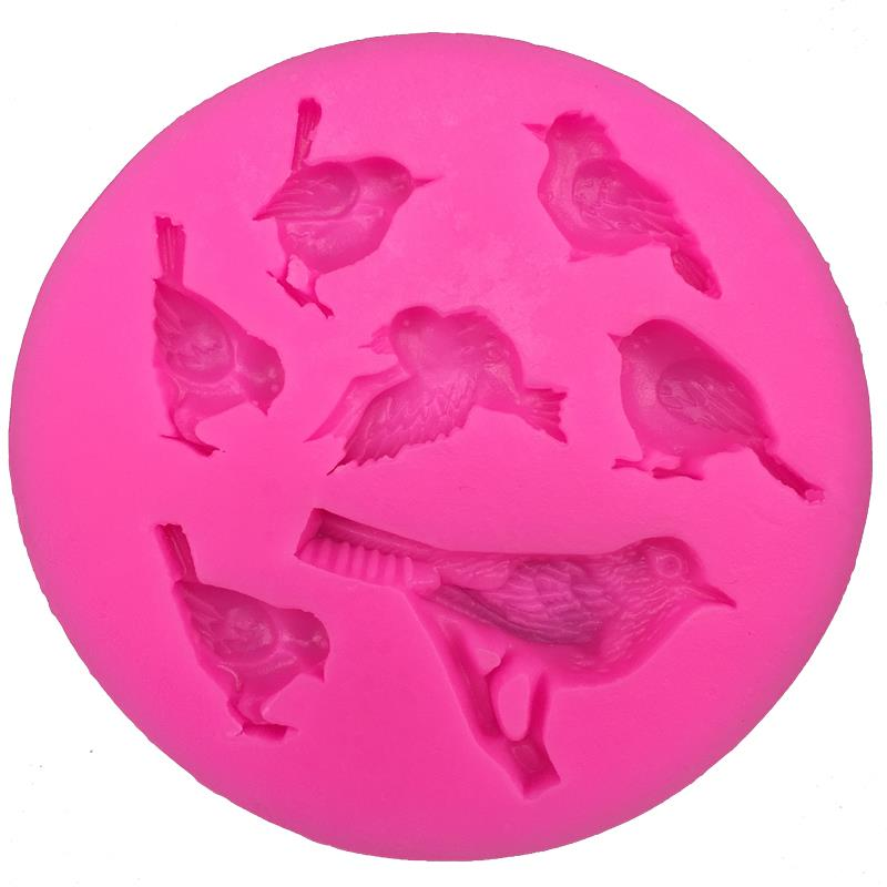 Bird-like Shape 3D fondant cake silicone mold for polymer clay molds kitchen chocolate pastry candy making decoration tools 0093 ...
