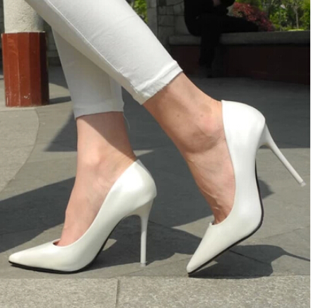 New 2015 Women Pumps Sexy Pointed Toe Thin High Heels Women Shoes ...