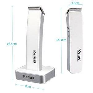 Image 5 - Kemei cortadora de pelo recargable máquina de afeitado eléctrico, maquinilla de afeitar, barbero, cortador de barba, juego de corte de pelo inalámbrico D40