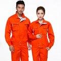 Conjunto de casaco de MANGA COMPRIDA + calças de trabalho moda uniforme serviço de solda uniforme