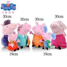 купить 6set Peppa pig  Plush toy Pink pig girl George Animal Plush Plush Toy Cartoon Family Friends Pig Party Doll Girl Child Gift дешево
