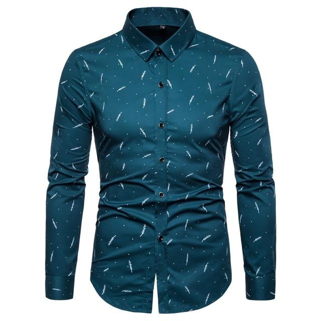 2020 Fashion Brand Designer Shirt Mens High Quality Slim Fit Street Wear Long Sleeve Dress Shirt Cotton 5xl Casual Clothes