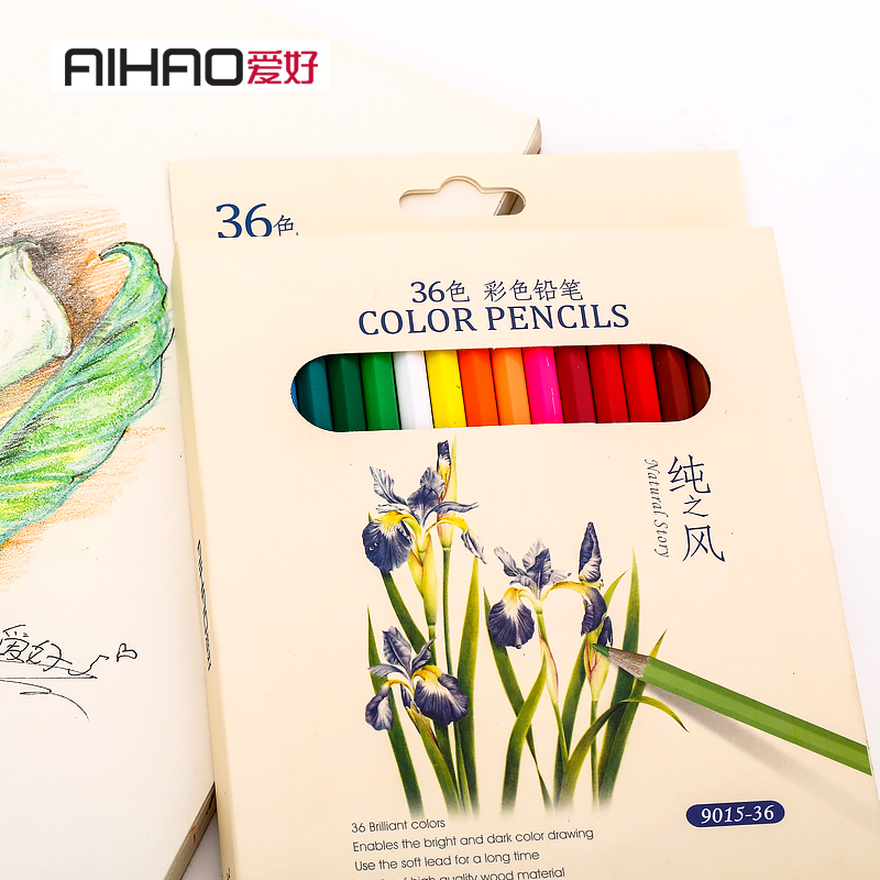 AIHAO Raffine Fine Art colored pencils Drawing Sketches Plainting Colour Pencil School Supplies Secret Garde Pencil marco raffine fine art colored pencils 24 36 48 colors drawing sketches mitsubishi colour pencil for school supplies