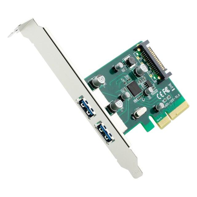 PCI E 4X TO USB 31 Type A 2 Port Female