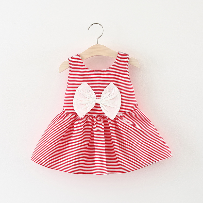 Budermmy Baby Girls Adorable Flower Printing Dress Sleeveless Summer Beach Dress High Quality Design Clothing for Kids