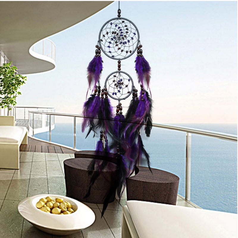 Handmade Dream Catcher With Beads Feather Dreamcatcher Macrame White ...