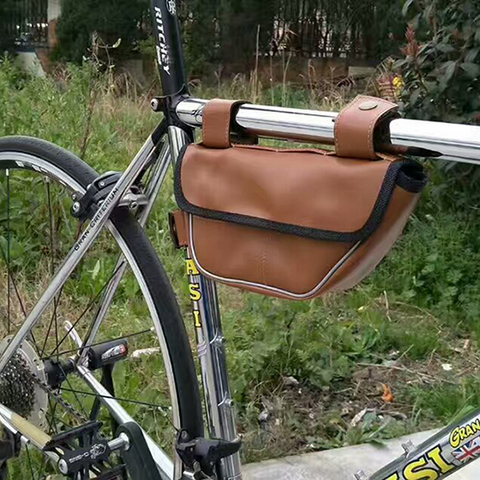 Retro Bike Bag Triangle Package Saddle Bag On The Tube Riding Equipment for Fixed Gear Rode Bike Bags Islamabad