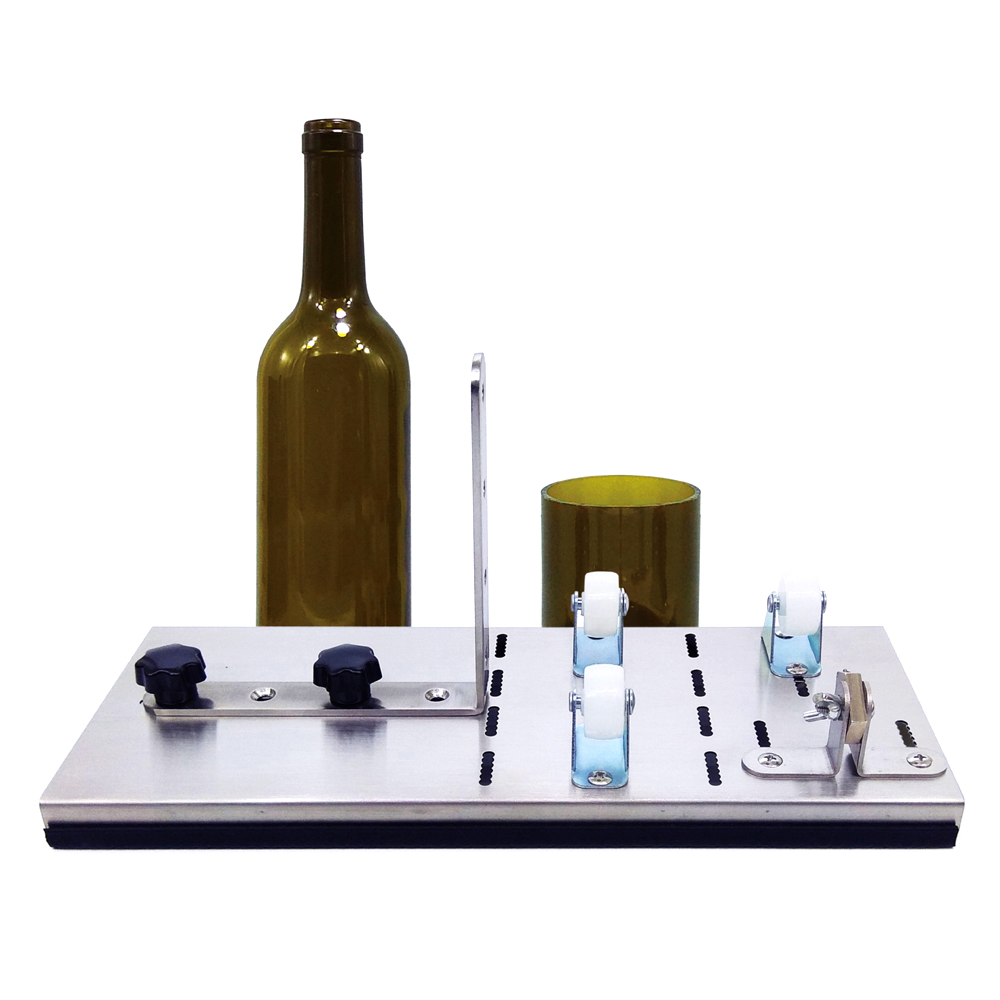 Glass Bottle Cutter Create Glass Sculptures Catchers 3-Wheel Cutting Thickness 2-12mm Stainless Steel Better Cutting Control