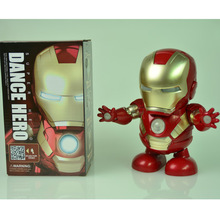 Can dance iron man electric iron man dancing robot lighting dynamic music color box packaging for children's toys inflatable sky dancing tube man ghost chef outdoor waving air dancing man for advertising celebration without fan blower