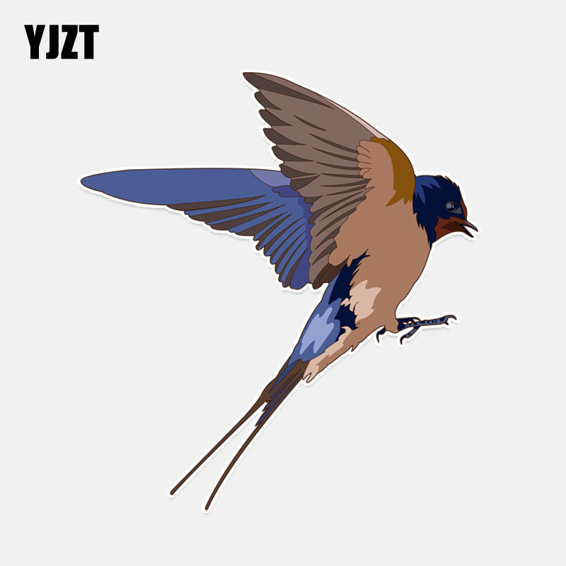 YJZT 11.7*12.9CM Lovely Swallow Decor Car Sticker Personalized Colored High Quality 11A0267