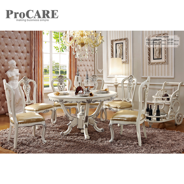 European china cheap classic wooden dining table set with 6 seater - 8002B cke8002 8002b sop8