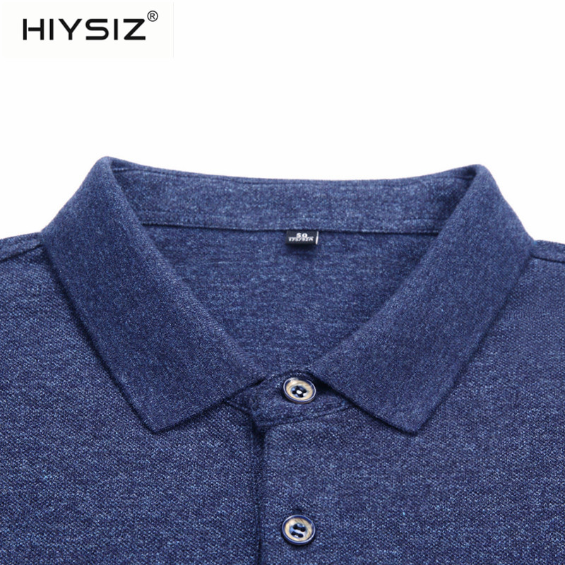 HIYSIZ Men T shirt 2019 Spring summer cotton Cool Style Tshirts slim fit Short sleeve T shirt Turn down Collar Men Tees ST316 in T Shirts from Men 39 s Clothing