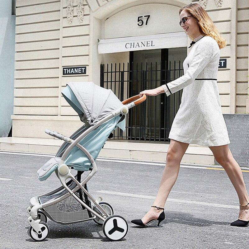 Teknum ребенок толкатель легкий складной Портативный ребенок тележки Высокая Пейзаж противоударный может сидеть и лежать зонтик автомобиль.