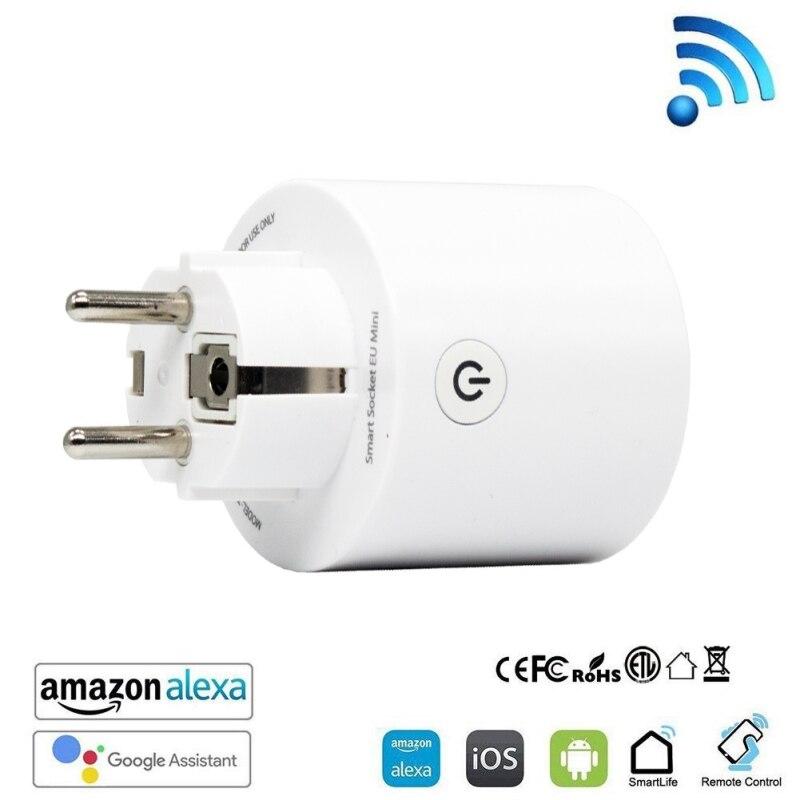 WiFi Socket conectado Smart WiFi Socket funciona con Control de voz Control remoto y función de temporizador nuevo