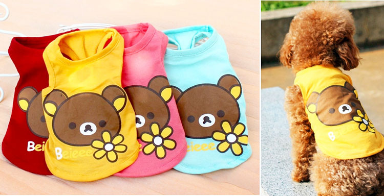 Breathable Pet Apparel Spring Summer Dog Cat Vest Puppy T-shirt Small Dogs Clothes For Chihuahua Youkie XS S M L XL XXL 8 Style13