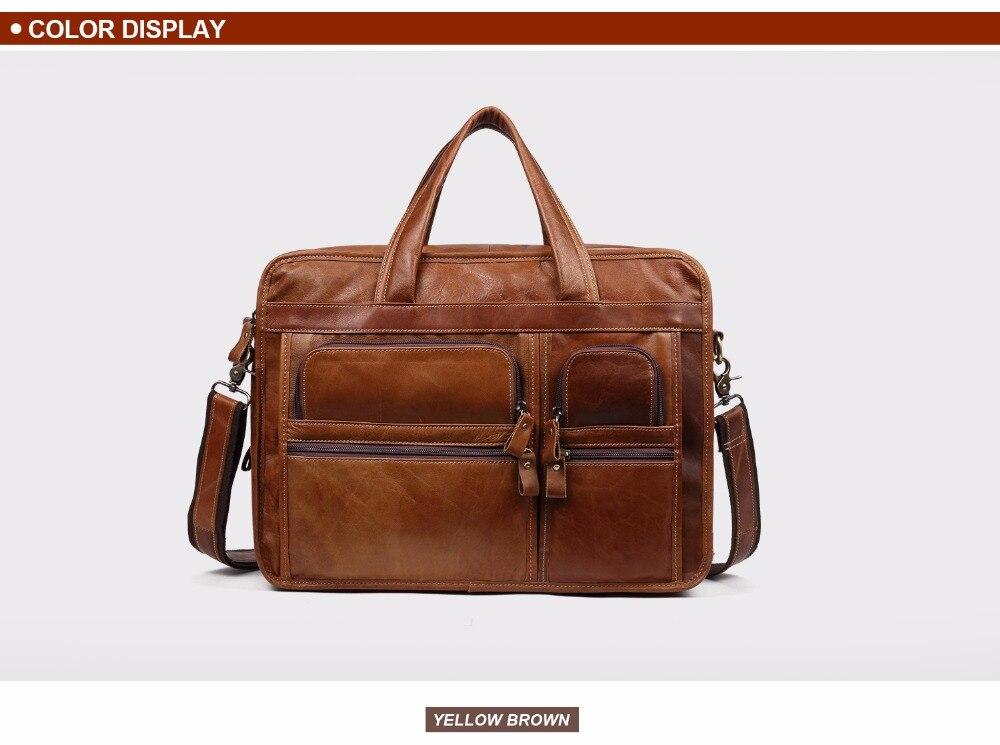 HTB1jRrLc7fb uJkHFNRq6A3vpXaA JOYIR Genuine Leather Men Briefcases Laptop Casual Business Tote Bags Shoulder Crossbody Bag Men's Handbags Large Travel Bag