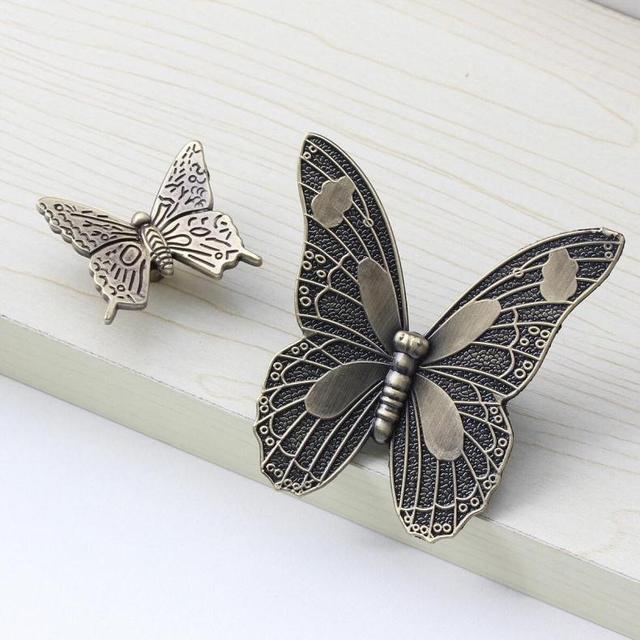 Decorative Handles Antique Butterfly Cupboard Door Knobs And Handles