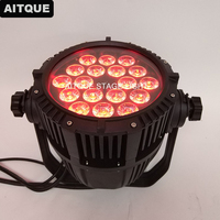 6pcs Stage light led par 18 pcs 5 in 1 led outdoor par 15w rgbwa ip65 led par 64 light 18x15 rgbwa