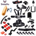 Gopro Hero Accessories Set Helmet Harness Chest Belt Head Mount Strap Monopod Go pro hero 5 5S 3 4  3+  xiaomi yi Black Kit GS43