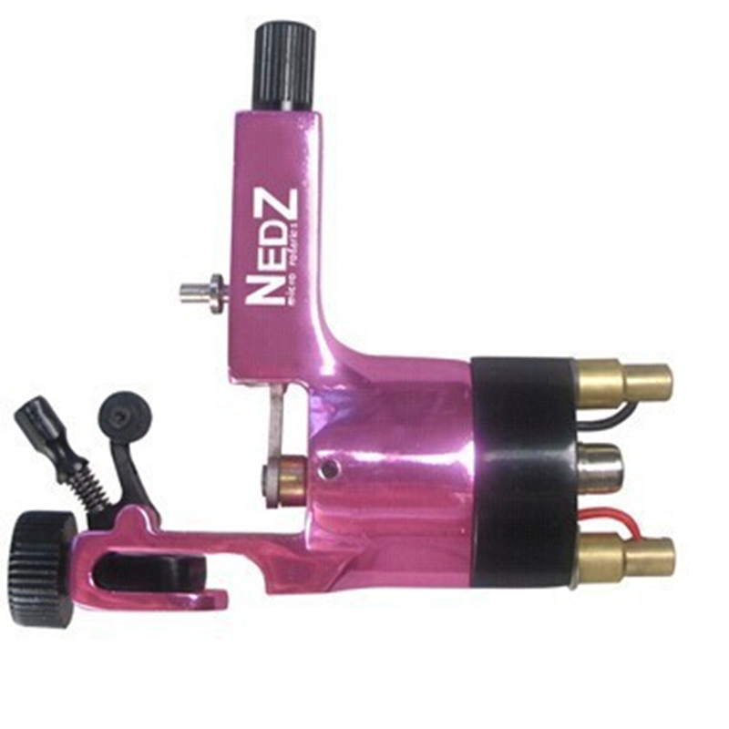 Wholesale Price Professional NEDZ Style Rotary tattoo machine Gun Liner Shader Rose Red for tattoo kit needles grip Supply wholesale price foot control pedal for welding machine