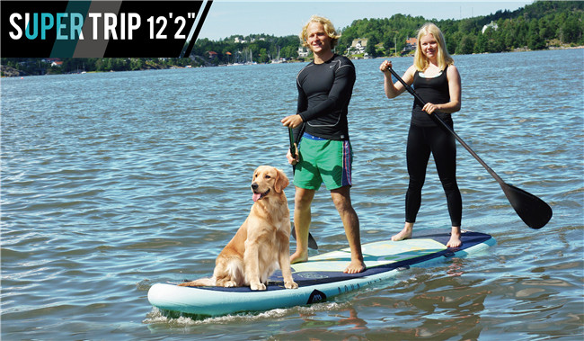 FreeShipping Aqua Marina Fusion 12 20 Stand Up Paddle Board Inflatable Surf board include oar inflation