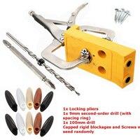 Mini Pocket Hole Drill Jig Slant Hole Jig Locator Guide Kit Woodworking Tool Portable 9mm Step