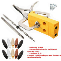 Mini Pocket Hole Drill Jig Slant Hole Jig Locator Guide Kit Woodworking Tool Portable 9mm Step