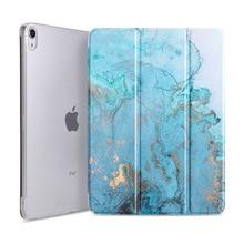 Купить с кэшбэком Case for iPad Pro 11 2018 Lightweight Smart Trifold Marble Case PU Leather Soft TPU Back Cover for Apple iPad Pro 11 inch Funda