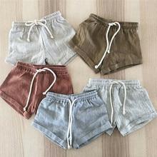 Детские летние повседневные шорты детские шаровары; коллекция года; хлопковые шорты для маленьких мальчиков и девочек детские летние брюки PP От 0 до 3 лет pantalones cortos