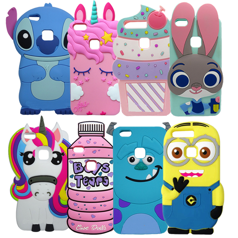 New 3D Cartoon Case For Huawei P10 Lite 5.2 Inch Soft Silicone ...