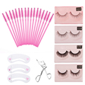 Professional 1 set Makeup Tools Kits 100pcs Disposable Eyelash Brush False Eyelashes Curler Card travel tools