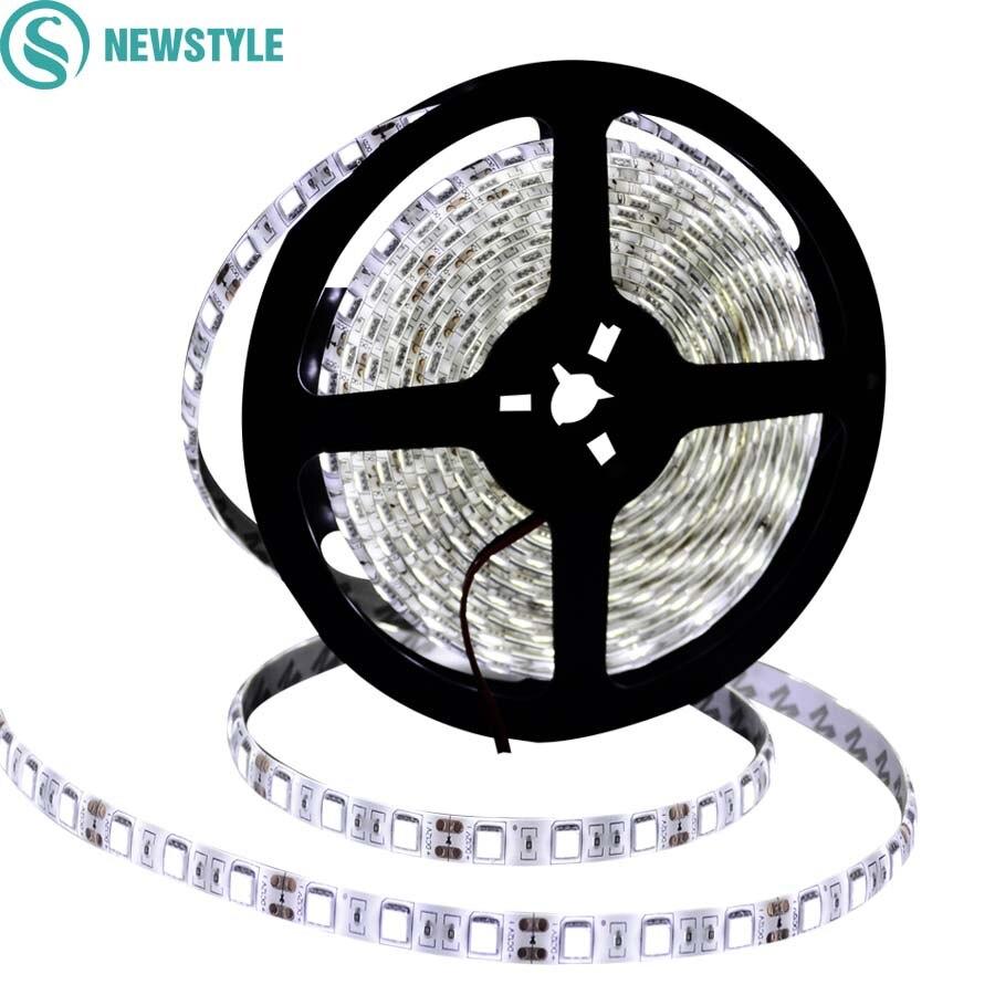 Newstyle Dc12v Led-streifen 5050 Wasserdicht/nicht Wasserdicht Flexible Led-streifen 60 Leds/m 5 Mt/los Weiß Warmweiß Rgb Band Licht & Beleuchtung Led-beleuchtung
