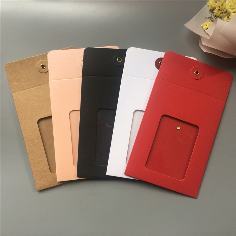 20 Set 14x10.5cm Jewelry Package Box Various Color Window Envelop Box For Jewelry Necklace Package /invitation Card /CD Storage